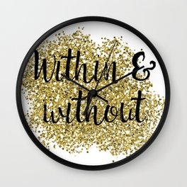 Within and without - golden jazz Wall Clock