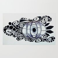 evil eye Area & Throw Rugs featuring Evil Eye by King Catastropa