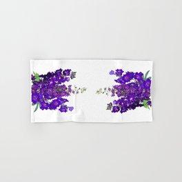 Rich blue-violet Delphinium Hand & Bath Towel