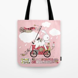 Runs away Tote Bag