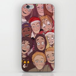 The SKAM squad at Christmas iPhone Skin