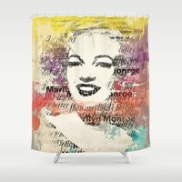 monroe Shower Curtains featuring MONROE by Smart Friend