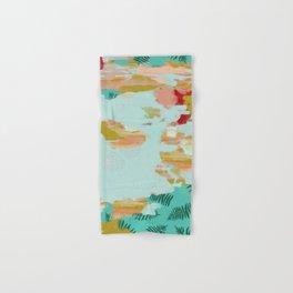 Seafoam Fern Collage Hand & Bath Towel