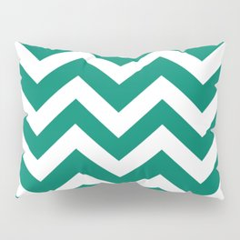 Generic viridian - green color - Zigzag Chevron Pattern Pillow Sham