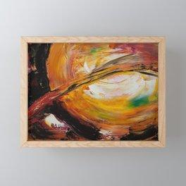 Solar prominence Framed Mini Art Print