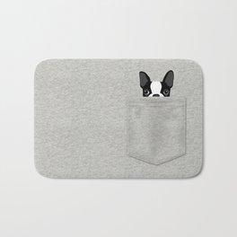 Pocket Boston Terrier - Black Bath Mat