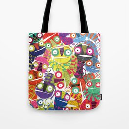 Colored lizards Tote Bag