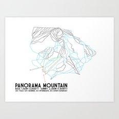 Panorama, BC, Canada - Minimalist Trail Art Art Print