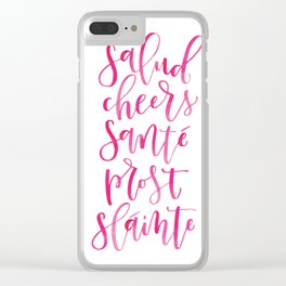 Cheers! - Hand Lettered Print Clear iPhone Case