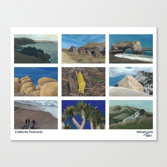 California Postcards Canvas Print