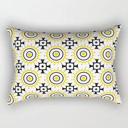 The Sun Moroccan Tiles Pattern Yellow Rectangular Pillow
