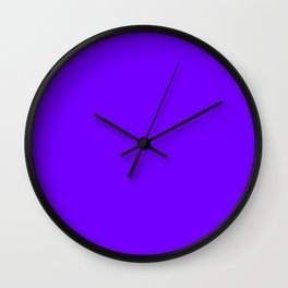 The Future Is Bright Purple  - Solid Color - Jewel Tone Wall Clock
