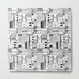 MOG black white Metal Print