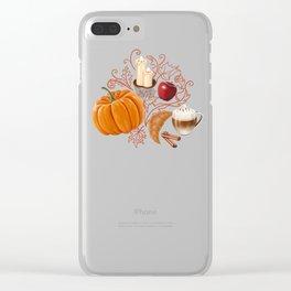 Rustic Fall Clear iPhone Case