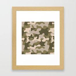 Green Gray Camouflage Pattern Framed Art Print