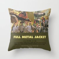 kubrick Throw Pillows featuring Full Metal Jacket - Stanley Kubrick by Smart Store