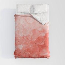 Coral Gem Duvet Cover