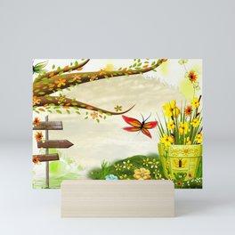 Sun Shiney Day Whimsical Spring Mini Art Print