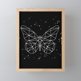 Butterfly Star Constellation Astrology Stars Sign Framed Mini Art Print