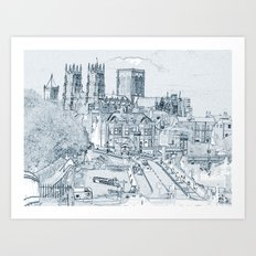 York, in pen and ink Art Print