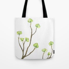 Green Dogwood Tote Bag