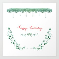 Happy Birtday_04 Art Print
