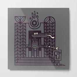Lizardpeople Rule, Humans Drool Metal Print