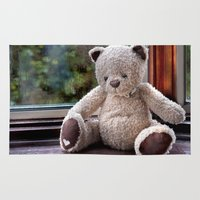 teddy bear Area & Throw Rugs featuring Teddy Bear  by Fran Walding