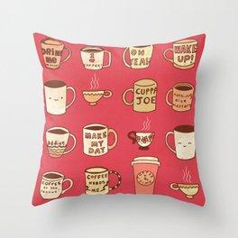 Coffee Society Throw Pillow