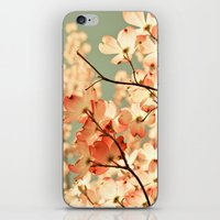 green iPhone & iPod Skins featuring Pink by Olivia Joy StClaire