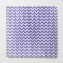 Purple Moroccan Moods Chevrons Metal Print