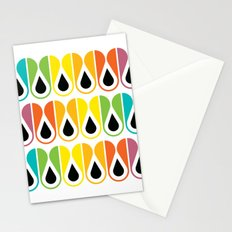 colorful loop pattern Stationery Cards