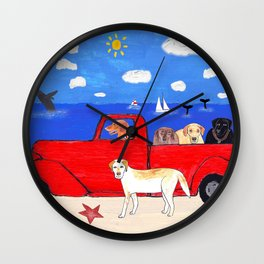 The Salty Dogs Wall Clock