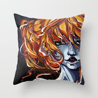 submarine Throw Pillows featuring Submarine by Hibrys o' Weasel