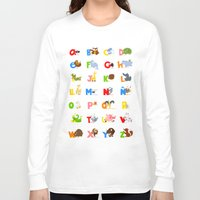 spanish Long Sleeve T-shirts featuring ABC (spanish) by Alapapaju