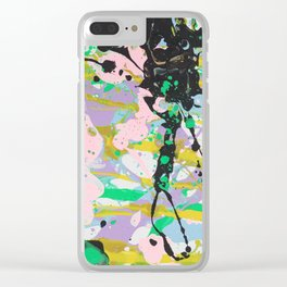Pastel Abstract Clear iPhone Case