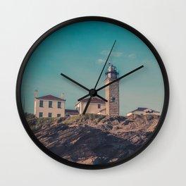 Beavertail Lighthouse Historic Coast Guard Light Station New England Rhode Island Atlantic Coast Wall Clock