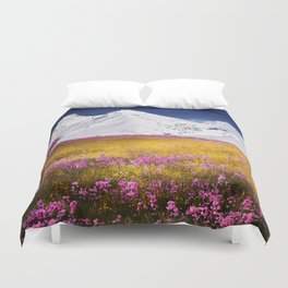 When Flowers Bloom And The Mountains Froze Duvet Cover