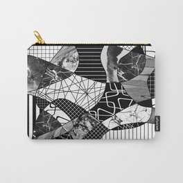 Chaotic Black And White Carry-All Pouch