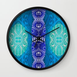 Deep Blue Wall Clock