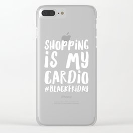 Shopping Cardio Black Friday Apparel Clear iPhone Case