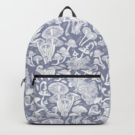 Delicious Autumn botanical poison IV // blue grey background Backpack