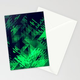 Green Screen Abstract Design Stationery Cards