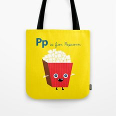 P is for Popcorn Tote Bag