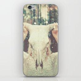 Bull Skull Tribal Woman iPhone Skin