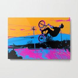 BMX Back-Flip Metal Print