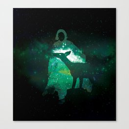 Snape and the Doe Canvas Print