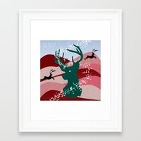 merry christmas Framed Art Prints featuring merry christmas by mark ashkenazi