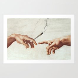 Adam and The God Art Print