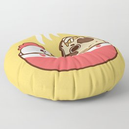 Chicken Noodle Puglie Soup Floor Pillow